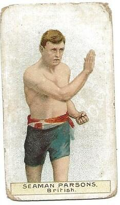 Seaman Parsons 1911 WD & HO Wills Scissors Cigarette Boxing Card