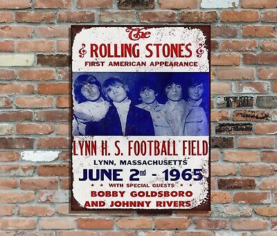 "THE ROLLING STONES (3)10x8"" Retro Metal Concert Poster Sign plaque Wall Art Pic"