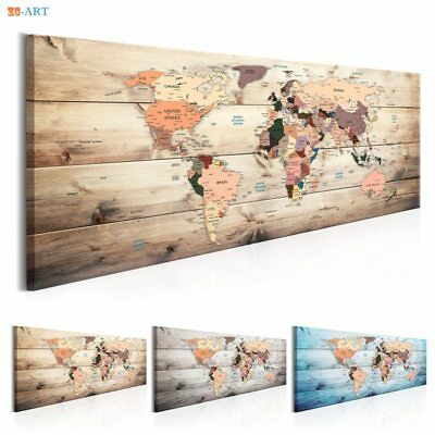 Abstract World Map Prints Poster Canvas Painting Wall Art Living Room Home Decor