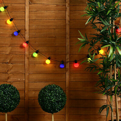 20 Festoon Coloured String Chain Lights Indoor / Outdoor Garden Party Lighting