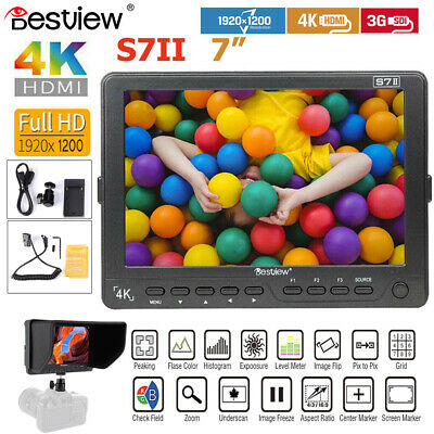 "BESTVIEW S7II 7""IPS Screen 4K 3G-SDI HDMI 10X Zoom Video Camera Monitor For DSLR"