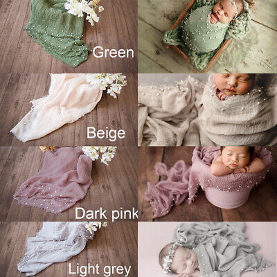 Newborn Photography Props Blanket Cotton Blend Wraps Stretch Wrap Baby Photo