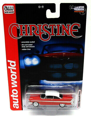 Christine 1958 Plymouth Fury Auto World diecast 1/64 AWSS6401 Stephen King