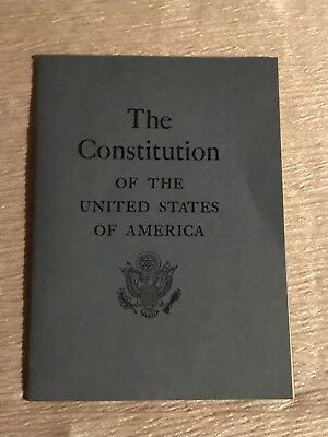 Vintage US Gov. Blue Pamphlet THE CONSTITUTION of the UNITED STATES OF AMERICA