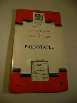 ORDNANCE SURVEY ONE INCH MAP BARNSTAPLE NATIONAL GRID 169 7th Series