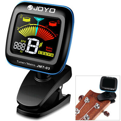 JOYO JMT- 03 Electric LCD Clip-on Guitar Tuner Metronome for Violin Bass Ukulele