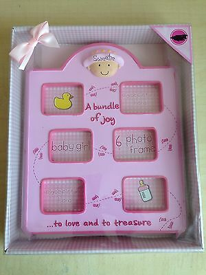 Baby Girl Collage Photo Frame - Pink (New)