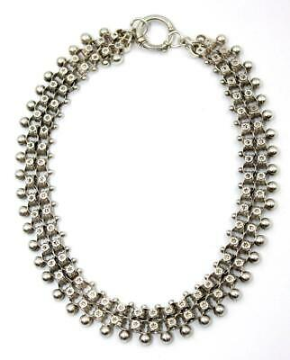 Victorian Silver Bookchain Collar Necklace, c1880, Excellent Condition