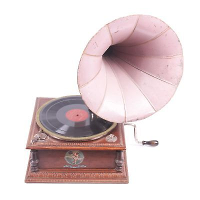 Antique old French Gramophone, music box.