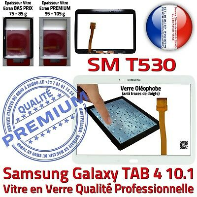 Tactile Glass Complete White Samsung Sm T530 Tab4 Adhesive Screen Full White