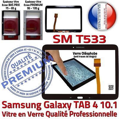 Black Tactile Glass Complete Samsung Sm T533 Tab 4 Adhesive Screen Full Black