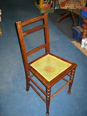Bedroom Chair with Cane Seat - Edwardian