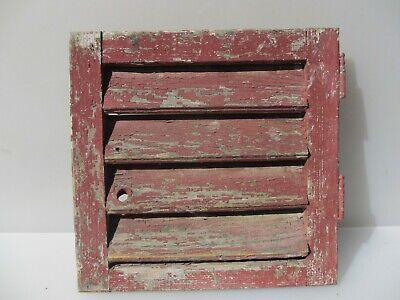 """Vintage French Wooden Window Shutter Wood Old Salvage 14.25"""""""