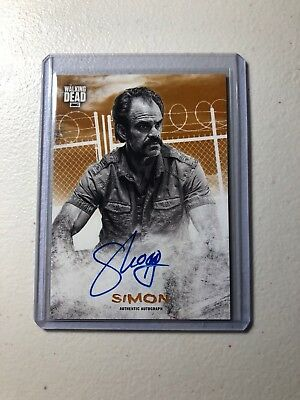 Walking Dead Topps Hunters And The Hunted Simon Orange Parallel Auto #/99
