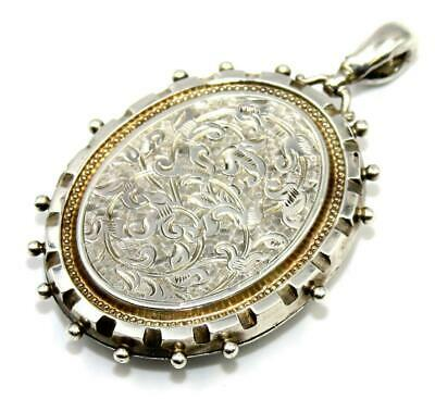 Original Victorian Oversize / Large Sterling Silver Photo Locket. c1880, Perfect