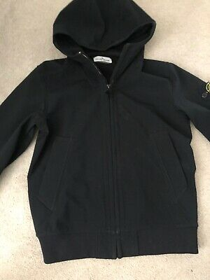 Boys Stone Island Junior soft shell jacket Black  age 12   152 Great Condition