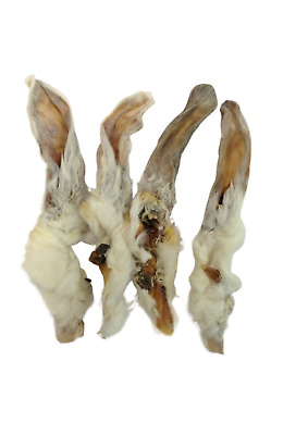 Rabbit Ears Natural with Hair Hypoallergenic Dog Treat Chew - Choose your size