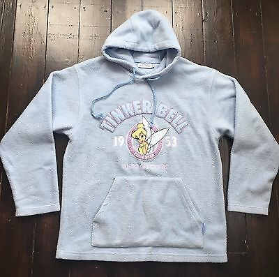 Disneyland Resort Paris Hooded Top Jumper Blue Tinkerbell Clothing M Medium