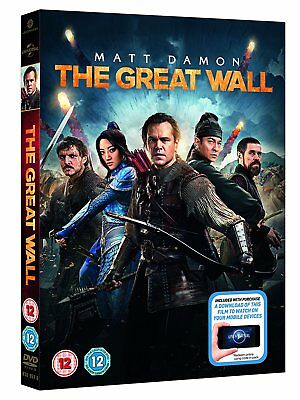 The Great Wall directed by Zhang Zhimou  with Matt Damon (DVD  2016)