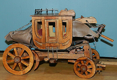 *Sale*!!!! Fabulous Vintage/Antique Hand Crafted Wood Stage Coach!! Wagon