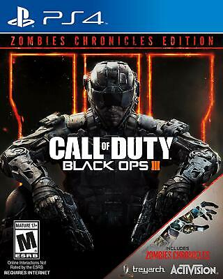 NEW Call of Duty Black Ops III 3 Zombies Chronicles Edition PS4 Factory Sealed