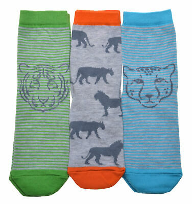 3 pairs of Big Cats designs Boys socks