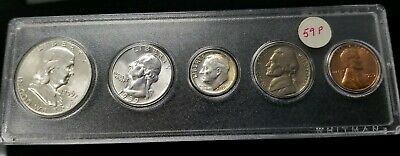 1959-P US Mint Silver Uncirculated Set In Whitman Acrylic Case 90% Silver SC8681
