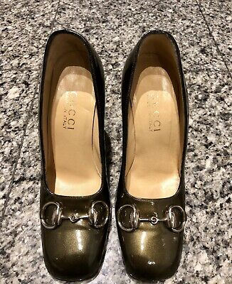 e3ba9feb7d48 GUCCI OLIVE GREEN Leather T-strap Sandals..IT 39   US 8 -  320.00 ...