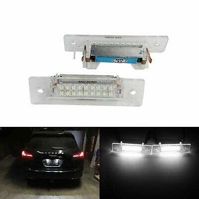 LED License Number Plate Light Lamps Porsche 968 Boxster 986 911 Carrera Turbo