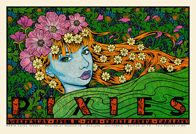 Chuck Sperry Pixies Poster Print Oracle Arena Oakland AP Edition of 50 SOLD OUT
