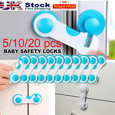 5/10 x Child Baby Cupboard Cabinet Safety Locks Proofing Door Drawer Fridge Kids