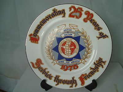 INTERNATIONAL POLICE ASSOCIATION 25 YEARS COMMEMORATIVE PLATE 1975 No 134