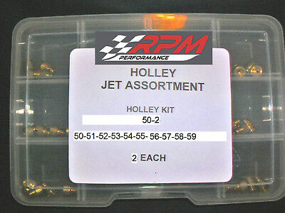 Holley Carburetor 1/4-32 GAS MAIN JETS ASSORTMENT KIT 50-59 2 EACH 20PACK 50-2