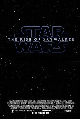 Star Wars The Rise of Skywalker Poster Episode IX Movie Teaser Print 24x36 27x40