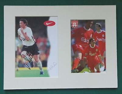ROBBIE FOWLER LIVERPOOL SIGNED PHOTO CARD IN MOUNTED DISPLAY 12 x 9  COA