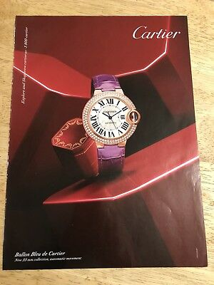 CARTIER Ballon Bleu de Cartier WATCH - 2014 Magazine Print Ad