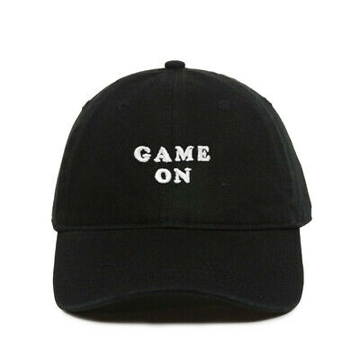 Game On Baseball Cap, Embroidered Dad Hat, Unstructured Six Panel, Adjustable