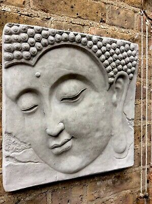 Large Divine Stone Thai Buddhas Wall Plaque(7kg) Unique From The Designer Sius.