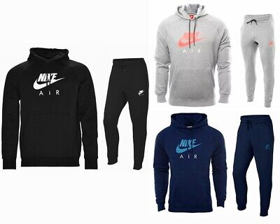Sale Mens Nike Jogging Fleece Hooded Tracksuit Top Joggers Black Grey Navy S-XL