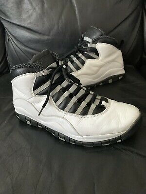3a268005c15e Nike Air Jordan 10 Retro Steel Grey White 2005 Worn Size 12 11 Bred Travis 1