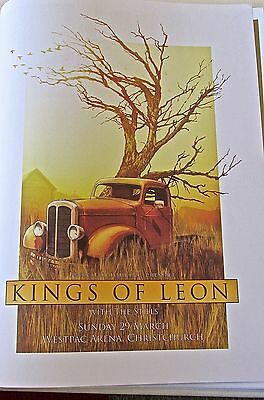 Kings of Leon  Mini Concert Poster Reprint for 2009 New Zealand  Gig 14x10