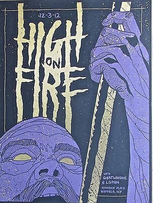 High on Fire Mini-Concert Poster Reprint of 2012 Buffalo NY 14x10