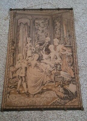 Victorian Trading Co CHRISTMAS Santa Tapestry Wall Hanging 28 x 39½