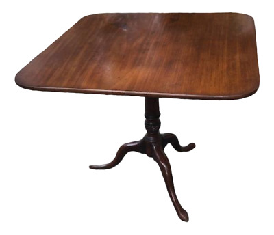 Antique Mahogany English Georgian Style Side or Tripod Table