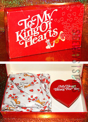 VINTAGE JOCKEY VALENTINE'S DAY GIFT boxers beating heart king of hearts Size 32