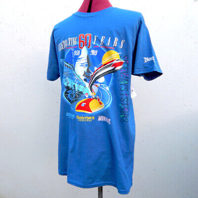 DISNEYLAND ATTRACTIONS 60TH ANNIVERSARY TSHIRT monorail submarine matterhorn NEW