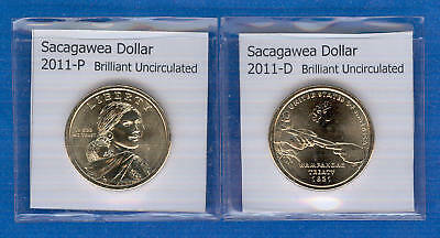 Sacagawea Dollars: 2011-P and 2011-D from Mint Rolls
