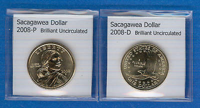 Sacagawea Dollars: 2008-P and 2008-D from Mint Rolls