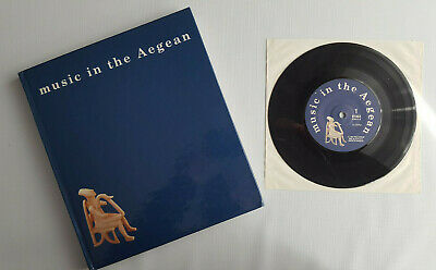 """Ministry Of Culture Athens """" Music in The Aegean """" Greek Book + 7 """" Vinile As"""