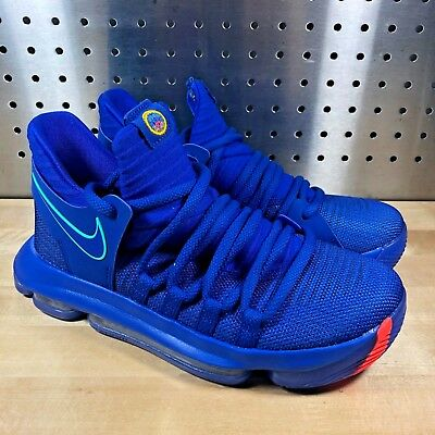 906921547505 Nike Zoom Kd 10 Kevin Durant Racer Blue Chinatown City Editon 5.5Y Gs  918365-